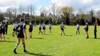 Dimanche, les joueurs du Rugby football club kastellin ont décidé de jouer le match entre eux.